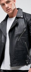 Barney's Leather Biker Jacket